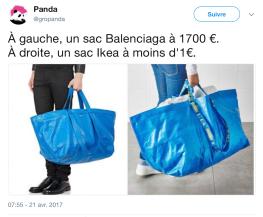 Sac IKEA Balenciaga comparaison