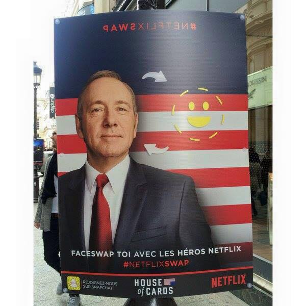 House of cards netflix snapchat faceswap