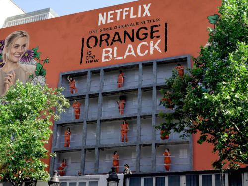 orange is the new black street marketing