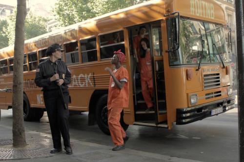 orange is the new black street marketing bus