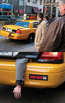 Sopranos Street marketing Taxi