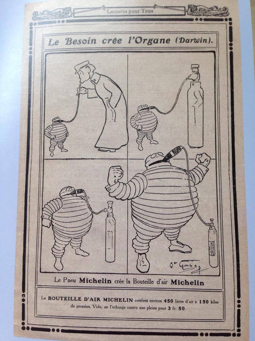 Bibendum, incarnation de Michelin, première apparition 2
