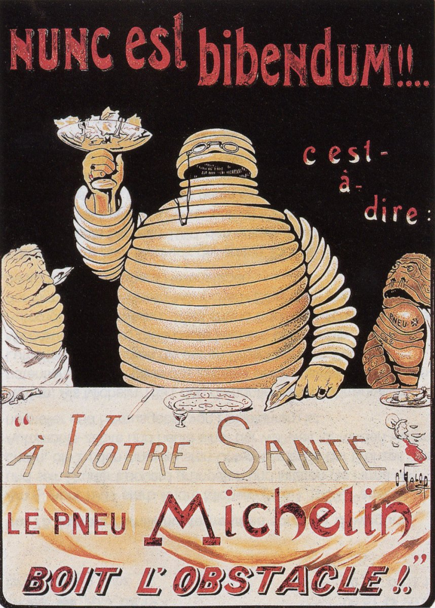 Bibendum, incarnation de Michelin, première apparition