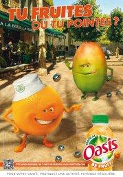 Oasis, mascottes fruitées