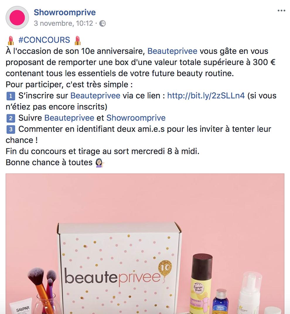 Concours FaceBook Mauvaise pratique