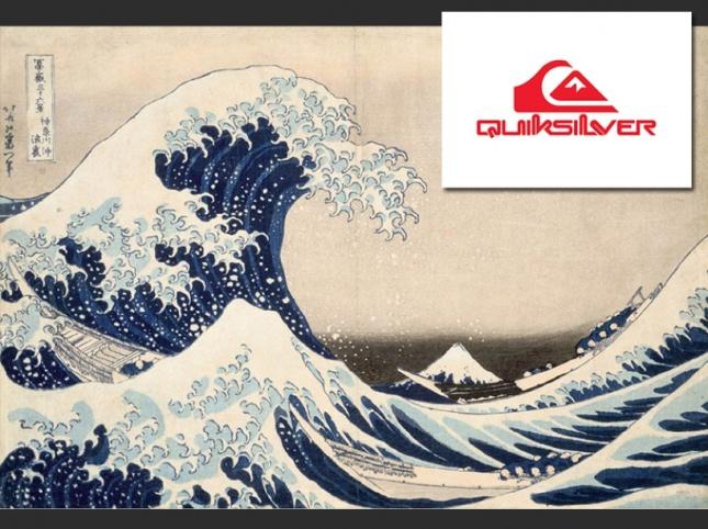 Hokusai, Sous la grande vague au large de la côte de Kanagawa Quisilver