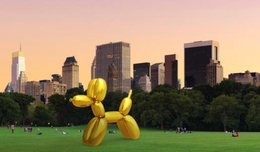 SnapChat ART réalité augmentée Jeff koons