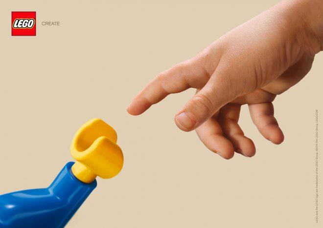 Lego La Creation d'Adam - Michelange