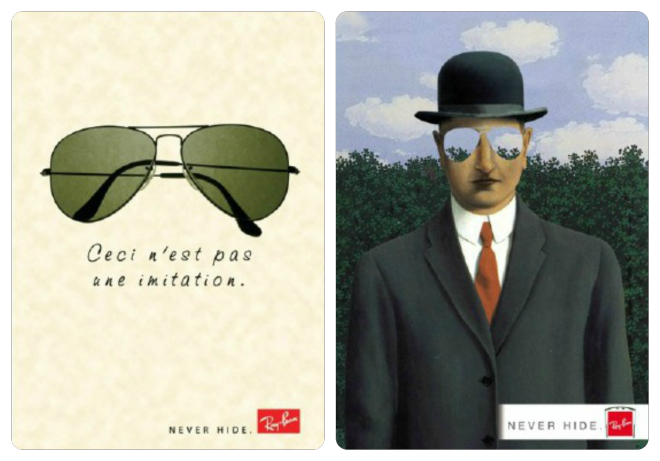 magrimagritte imitation Ray Ban ceci n'est pas une...tte Ray Ban