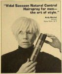 Warhol Sassoon laque perruque