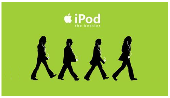 iPod Beatles ad