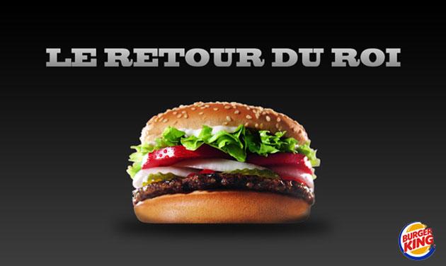 Burger King le retour du Roi
