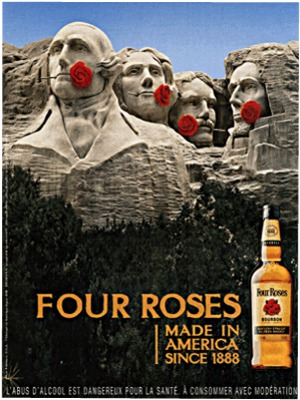 Four Roses ads Rushmore