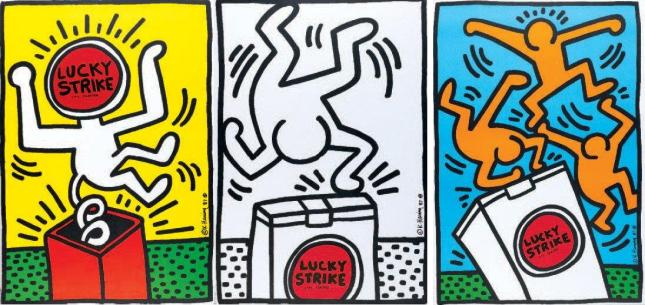 Keith Haring ad Lucky Strike