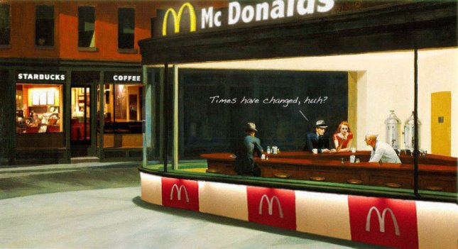 Nighthawks d'Edward Hopper ads