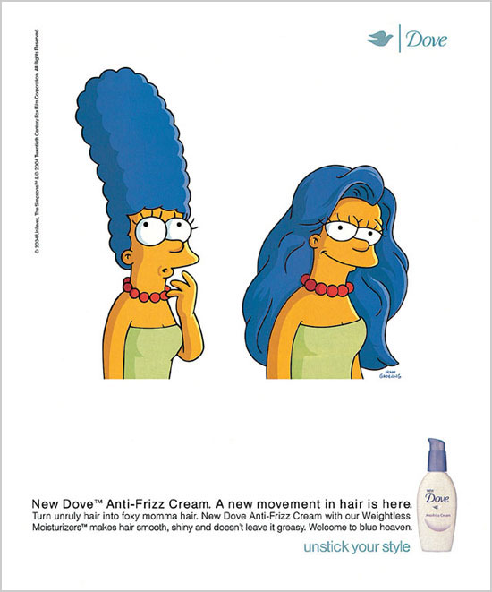 Simpsons Dove ad